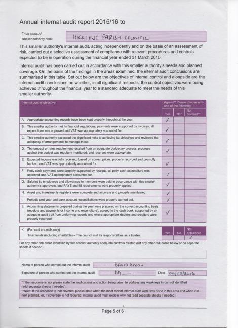 HPC audit page
